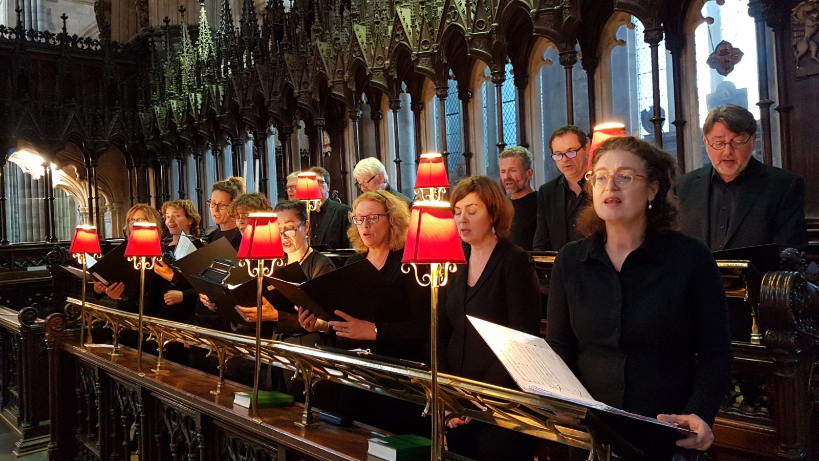 Vocaal Ensemble Duodektet in Exeter Cathedral